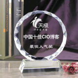 Sun Flower Shape Crystal Trophy Award