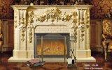 Indoor Freestanding Marble Fireplace Mantel