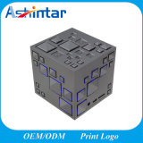 Cube Wireless Speaker Stereo Magic Cube Music Player with Colorful LED Light Mini Speaker