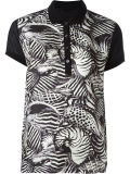 Factory Women′s Front Printed Polo Shirt