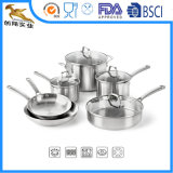Stainless Steel Cookware Set Flypan and Pot