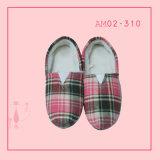 Winter Warm Lattice Plush Cotton-Padded Shoes Slippers Soft