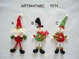 "10"" Santa and Snowman Christmas Tree Decoration Ornaments-3asst"