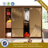 Wooden Cabinet Modern Sliding Door Bedroom Wardrobe (HX-LC2040)
