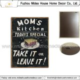 New Design Home Decor Food Style Metal Wall Plaque