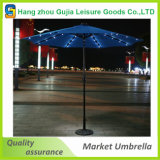 Outdoor 9′patio Market Solar Umbrella LED Light Tilt Sunshade Garden Parasol