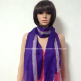 100% Polyester, Viscose Material Multifunctional Scarf with Silver/Golden Yarn