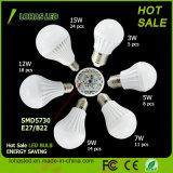 China Manufacturer 3W 5W 7W 9W 12W 15W Plastic LED Light Bulb with Ce RoHS