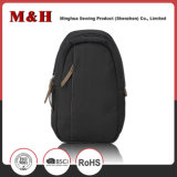 Multi-Pocketed Black Portable Leisure Men Chest Bag