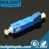 Adaptor LC Female to Sc Male Simplex with Flange Blue