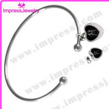 Bracelet with Heart Charm Urn Jewelry Stainless Steel