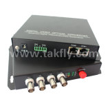 4 Channel Digital Video/Audio/Data Fiber Optical Video Multiplexer
