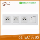 Europe 3 Gang Electric Wall Switch Socket French Type