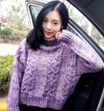 Fashion Ladies Girls Woman Knitwear Hand Knitted Sweater