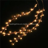 20LED Micro LED Battery Operated Firecracker String Lights Silver Copper Wire