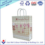 Recycled White Kraft Paper Bag Luxury Paper Gift Bag with Different Handle Types