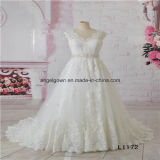 Size 6 A Line V Neck Lace Latest Wedding Dress