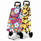 Foldable Shopping Trolley Bag with Various Print Colour (44602)