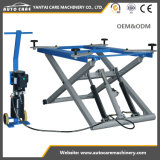 Double Hydraulic Cylinders 6000lbs Lifting Capacity Scissor Vehicle Lift