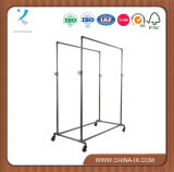 Metal Pipe Double Garment Rack for Stores