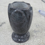 Wholesale Vizag Blue Granite Cemetery Vase