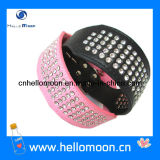 Rhinestone Dog Collars Genuine Leather Pet Luxury Collar