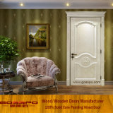 Custom Walnut White Paint Solid Wooden Door (GSP2-078)