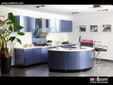 Welbom High Gloss Lacquer Luxury Curved Island Kitchen Furniture