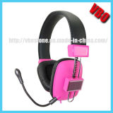 Hot Selling Wired Computer Headphone with Detachable Microphone