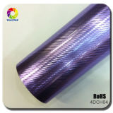 Tsautop High Stretchable Purple 4D Carbon Fiber Sliver Car Wrap