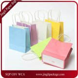 Colorful Kraft Paper Gift Bag Wedding Party Handle Paper Gift Bag Kraft Paper with Color Printing Shopping Bag