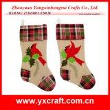 Christmas Decoration (ZY16Y007-1-2 50CM) Happy Christmas Bird Stocking