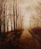 Forest Oil Painting for Home Decoration