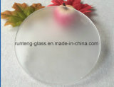 Low-Iron Round Shape Acid Etched Glass Frosted Glass Sheet