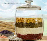 Modern Stylish Hot Sell Big Size High Capacity Glass Food Storage Jar with Glass Lid