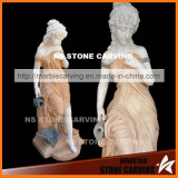 Natural Stone Statues Carving of Beautiful Girl Fountains