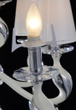 Fashion Crystal Chandelier with Cream Glass Shades/ Modern Luxury Chandelier Lighting