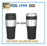 Wholesale Inner Stainless Steel Outer Plastic Travel Mug (SH-SC06)
