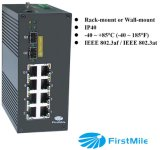 10 Ports Gigabit Industrial Ethernet Poe Switch
