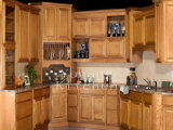 Solid Wood Kitchen Cabinet and Kitchen Furniture#215
