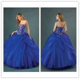 New Hot Ball Gown Custom Made Sweetheart Lace up Back Embroidery Royal Blue Quinceanera Dresses 2014
