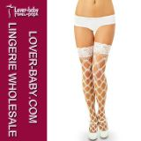 Wholesale Fishnet Nylon and Lace Stocking (L92238-1)