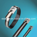 Ball-Lock Type Pattern-Coated Ss 304/316 Cable Ties