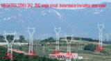 Megatro 220kv 2A2 Zm2 Single Circuit Transmission Tower