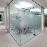 Silk-Printed Glass for Office Partition