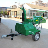 Pto Driven Double Hydraulic Feeding Wood Chipper