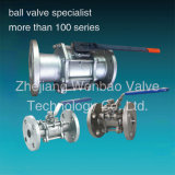 Flanged 3PC Ball Valve CF8m 1000wog DIN 3202-F1 Flanged Ball Valve Pn40