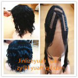 16inched Remy Indian Human Hair Wig U Part Lace Front Wig Deep Curl