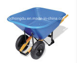 High Quality Wh9600 Wheel Barrow with Wooden Handle