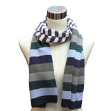 Fashion Acrylic Knitted Striped Children Scarf (YKY4319)